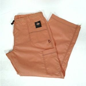 Dickies Orange Scrub Cargo Utility Pants Pockets